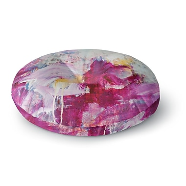 East Urban Home Iris Lehnhardt Magenta Paint Round Floor Pillow; 26'' x 26''