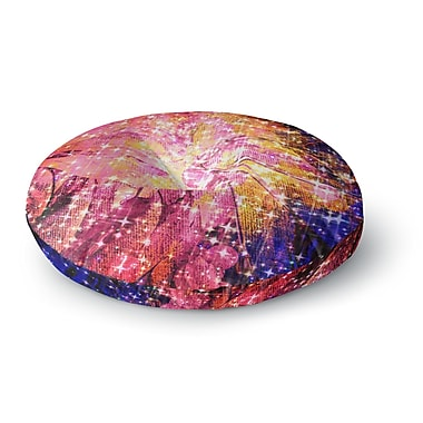 East Urban Home Ebi Emporium Out There Round Floor Pillow; 23'' x 23''