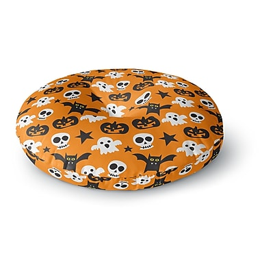 East Urban Home Spooktacular Halloween Pattern Round Floor Pillow; 26'' x 26''