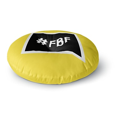 East Urban Home Flash Back Friday Round Floor Pillow; 23'' x 23''