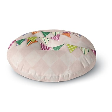 East Urban Home Flags 2 Round Floor Pillow; 23'' x 23''