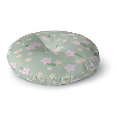 East Urban Home Spring Floral Round Floor Pillow; 23'' x 23''