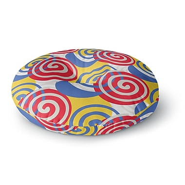 East Urban Home Patternmuse Dynamic Swirls Digital Round Floor Pillow; 26'' x 26''
