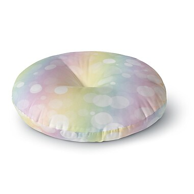 East Urban Home Pastel Prism Rainbow Bokeh Round Floor Pillow; 23'' x 23''