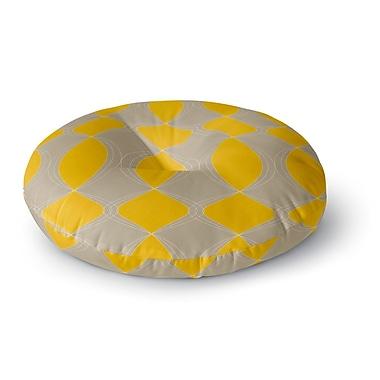 East Urban Home Julia Grifol Geometries Round Floor Pillow; 26'' x 26''