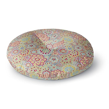 East Urban Home Julia Grifol My Happy Flowers Round Floor Pillow; 23'' x 23''
