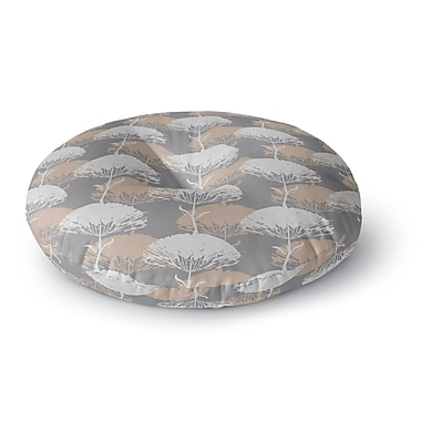 East Urban Home Julia Grifol Charming Tree Round Floor Pillow; 23'' x 23''