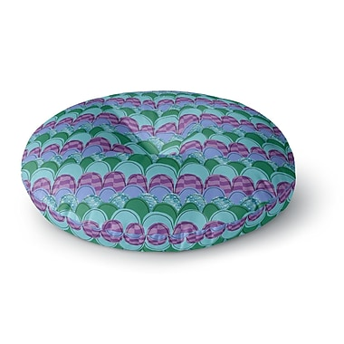 East Urban Home Jane Smith Woodland Waves Round Floor Pillow; 26'' x 26''