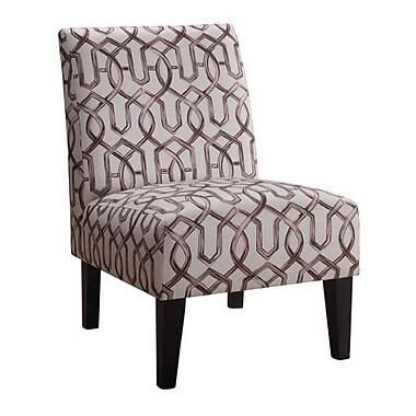 iNSTANT HOME Karina Slipper Chair; Silver/Gray
