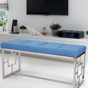Ivy Bronx Corston Upholstered Bench; Blue