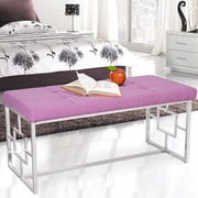 Ivy Bronx Corston Upholstered Bench; Purple