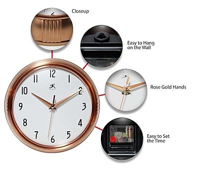 Ivy Bronx Demeter Copper 7.25'' Wall Clock