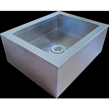 IMC Teddy 27.5'' x 19.5'' Single Anti-Splash Mop Sink 16GA Stainless Steel