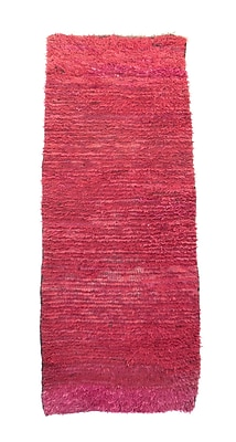 Indigo&Lavender Azilal Vintage Moroccan Hand Knotted Wool Burgundy Area Rug