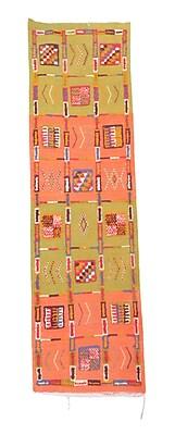 Indigo&Lavender Aknif Moroccan Hand Knotted Wool Green/Orange Area Rug