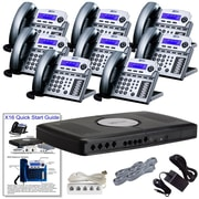 XBLUE X16 6-Line Small Office Telephone System, Titanium, 8/Pack