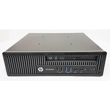 HP Refurbished EliteDesk 800 G1 SFF Desktop Computer, 3.1 GHz Intel Core i7-4770, 500 GB SSD, 8 GB DDR3, Windows 10 Professional