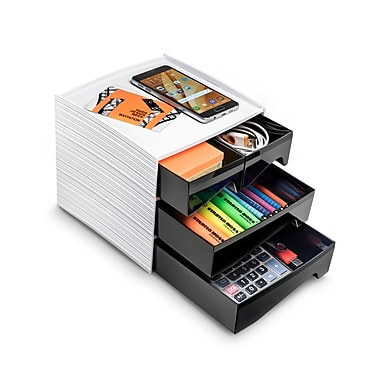 CEP - Range-tout pour dessus de bureau, 4 tiroirs, 7,25 x 7,25 x 7 po (3-211)