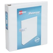 Avery Showcase 2-Inch Round 3-Ring View Binder, White (19701)