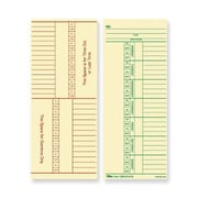 "TOPS® Weekly Time Cards - Numbered Days, 8 1/4"" x 3 3/8"", 1/Ea"
