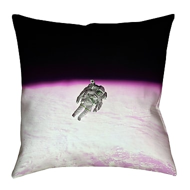 Latitude Run Hansard Astronaut Square Pillow Cover; 20'' x 20''