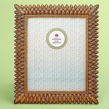 Mercer41 Arabelle Brushed Leaf Design Picture Frame; 13'' H x 11'' W x 0.38'' D