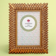 Mercer41 Arabelle Brushed Leaf Design Picture Frame; 8.5'' H x 6.5'' W x 0.25'' D