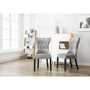 One Allium Way Ottley Tufted Upholstered Dining Chair (Set of 2); Gray