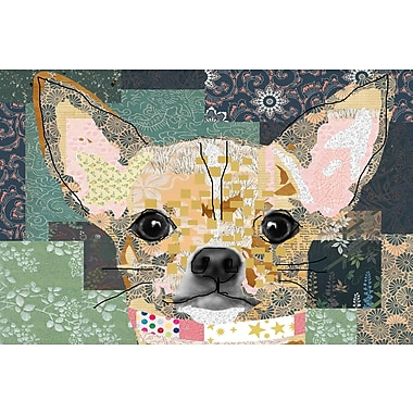 Latitude Run 'Being Foxy' Graphic Art Print on Wrapped Canvas; 16'' H x 24'' W