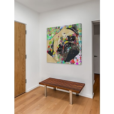 Latitude Run 'Pug Nose' Graphic Art Print on Wrapped Canvas; 32'' H x 32'' W