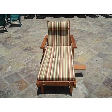 Orren Ellis Varda Rustic Chaise Lounge; Super Deck