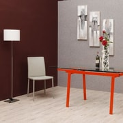 Orren Ellis Clower Extendable Metal Base Dining Table