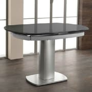 Orren Ellis Clower Extendable Tempered Glass Base Dining Table
