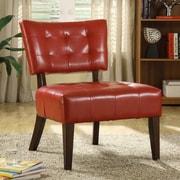 Orren Ellis Ansari Vinyl Slipper Chair; Red