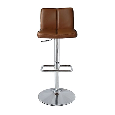 Orren Ellis Anzalone Adjustable Height Bar Stool; Tan