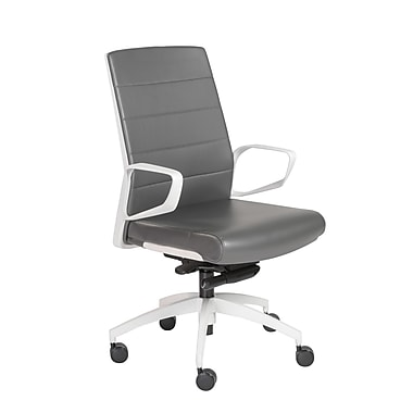 Orren Ellis Ayotte Swivel Desk Chair; Gray