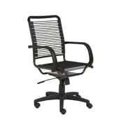 Orren Ellis Amico Contemporary Bungee Desk Chair; Graphite Black