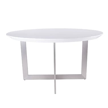 Orren Ellis Atlas Round Dining Table; High Gloss Lacquer