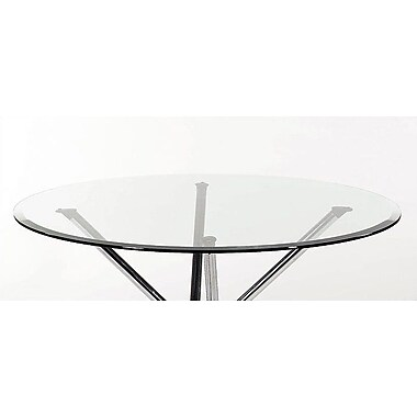 Orren Ellis Bielecki Round Glass 36'' Table Top; Clear Glass