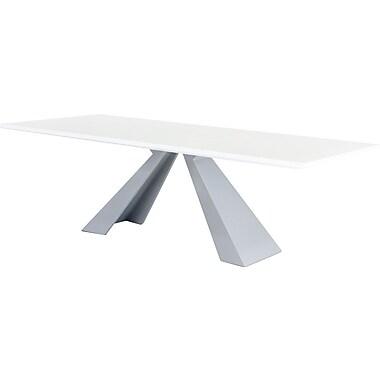 Orren Ellis Camron Modern Metal Base Dining Table