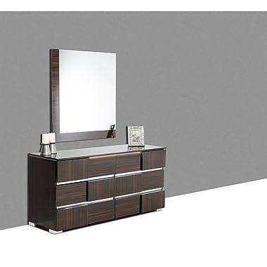 Orren Ellis Camron Modern Rectangular Wood Framed Dresser Mirror