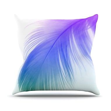 KESS InHouse Feather Colour Throw Pillow; 20'' H x 20'' W