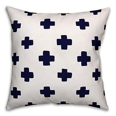 Red Barrel Studio Norman Swiss Cross Throw Pillow; 18'' x 18''