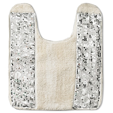 Sweet Home Collection Sinatra Bath Contour Mat; White