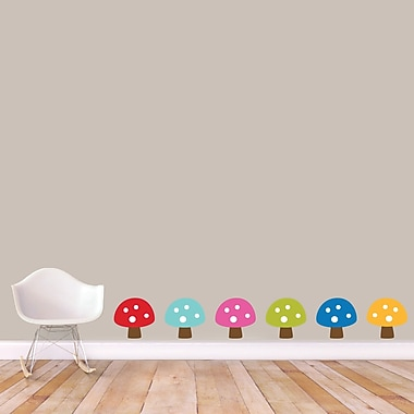 SweetumsWallDecals Woodland Forest Mushrooms Wall Decal; Large