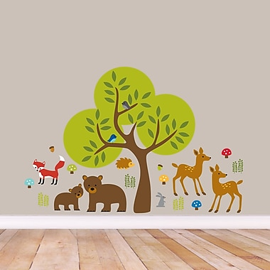 SweetumsWallDecals Woodland Forest Wall Decal; Small