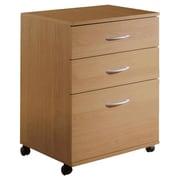 Symple Stuff 3 Drawer Mobile Filing Cabinet; Natural Maple