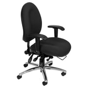 Symple Stuff Mid-Back Desk Chair; Charcoal Fabric