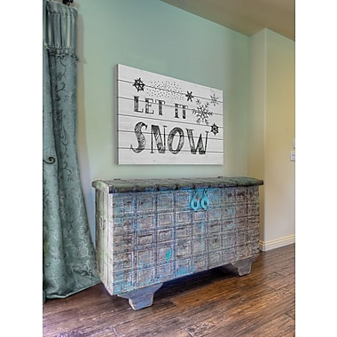 The Holiday Aisle 'Let It Snow III' Textual Art on White Wood; 12'' H x 18'' W
