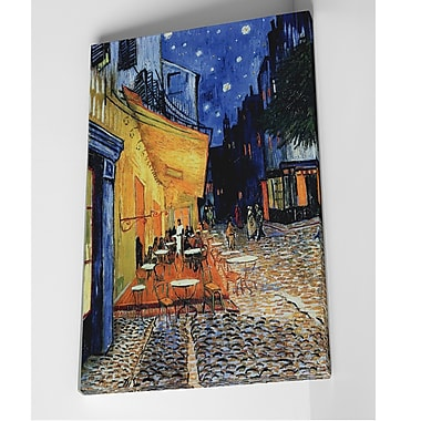 Red Barrel Studio 'The Caf Terrace' by Vincent Van Gogh Oil Painting Print on Wrapped Canvas